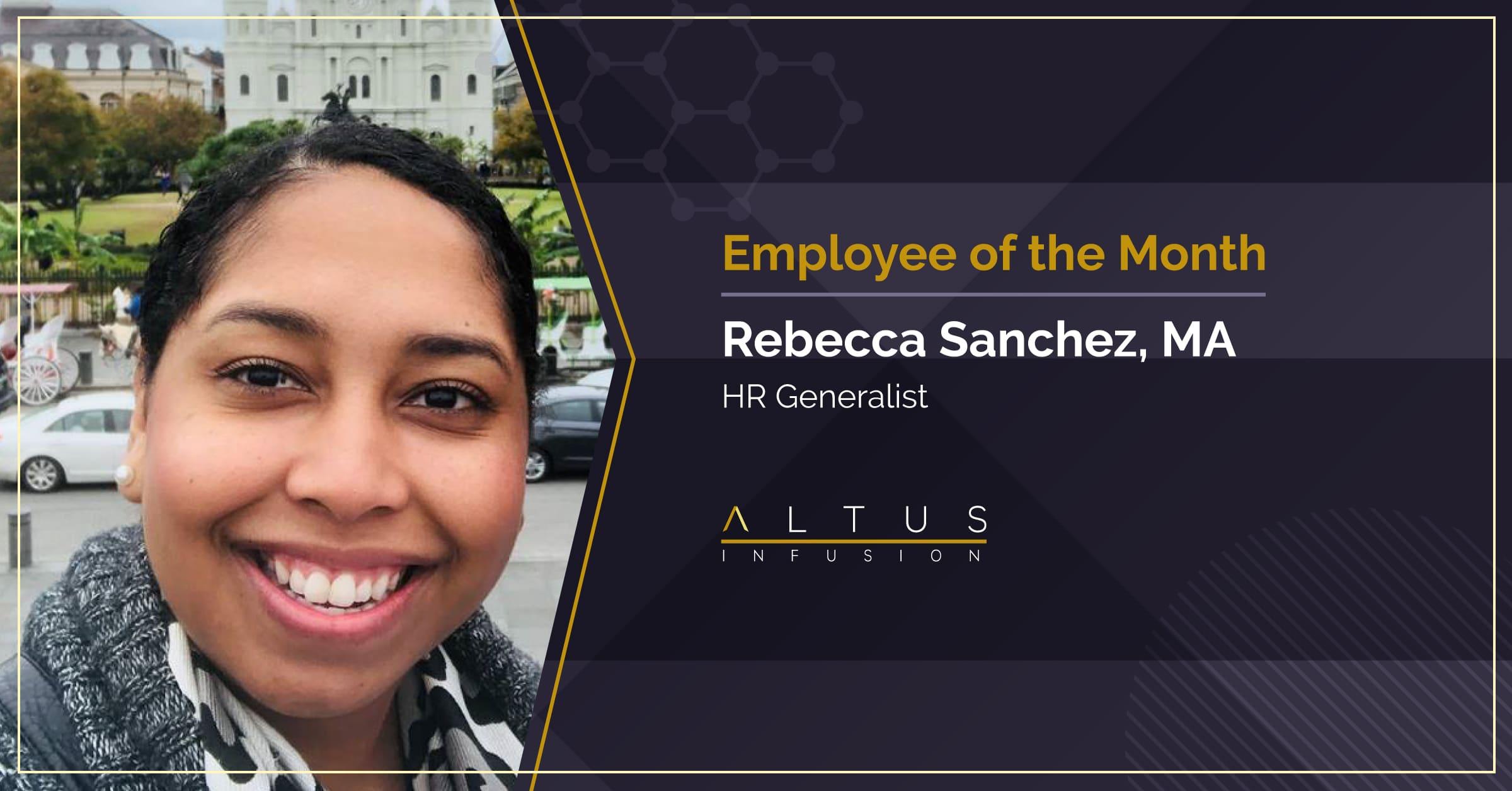 Congratulations, Rebecca Sanchez - December Employee of the Month