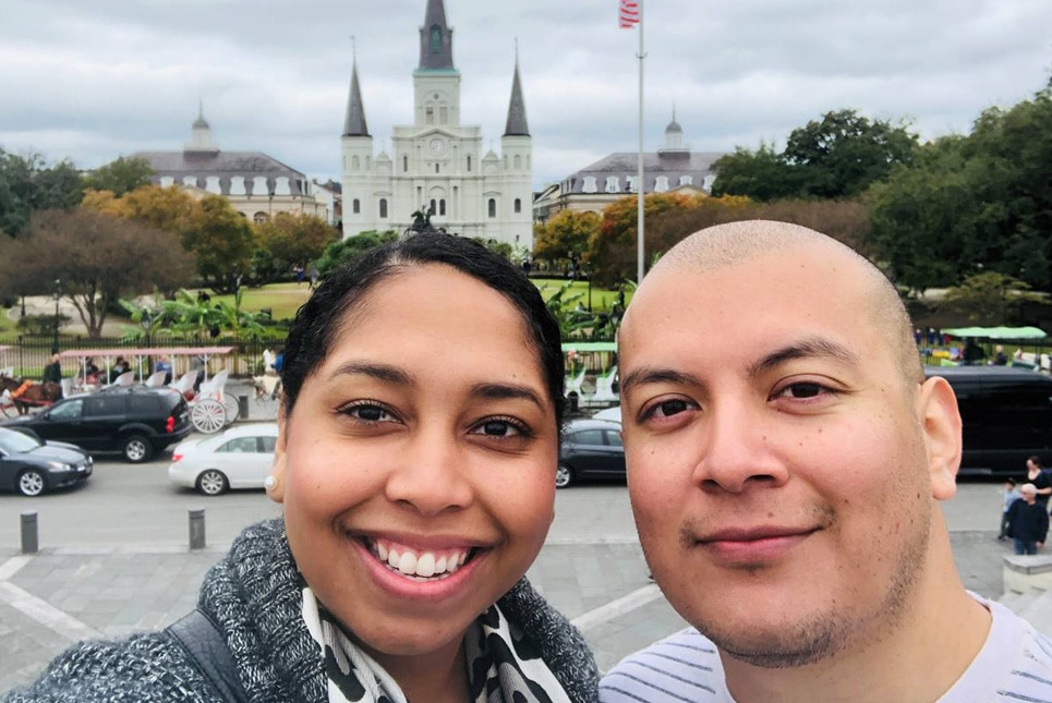 Rebecca Sanchez - My husband, Gabriel & I enjoying our time in New Orleans