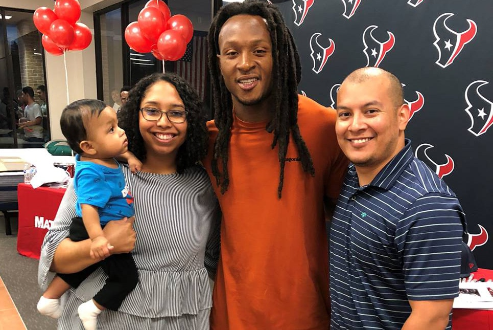 Rebecca Sanchez - Had the opportunity to meet DeAndre Hopkins at a signing event!