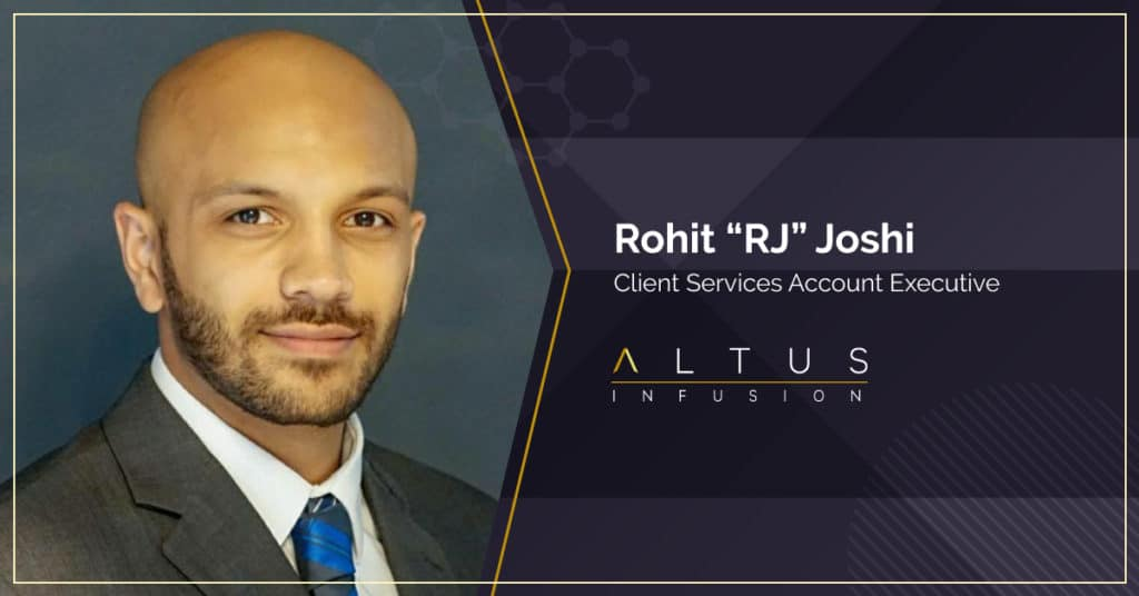 """Rohit """"RJ"""" Joshi Client Services Account Manager"""