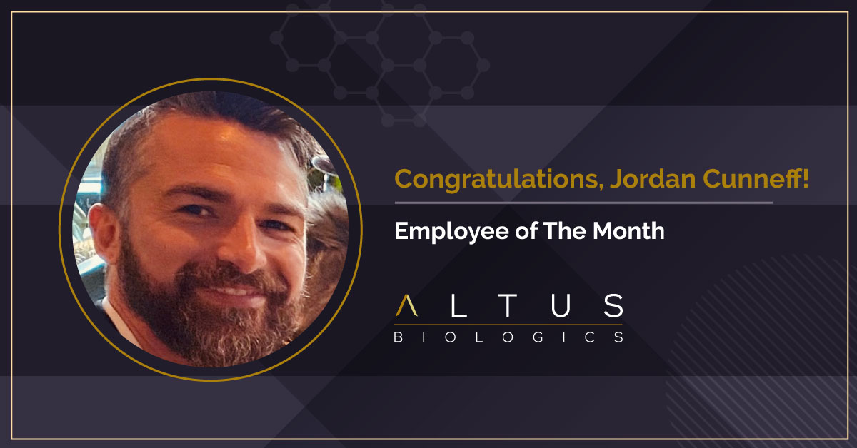 Jordan Cunneff, Our Employee of the Month